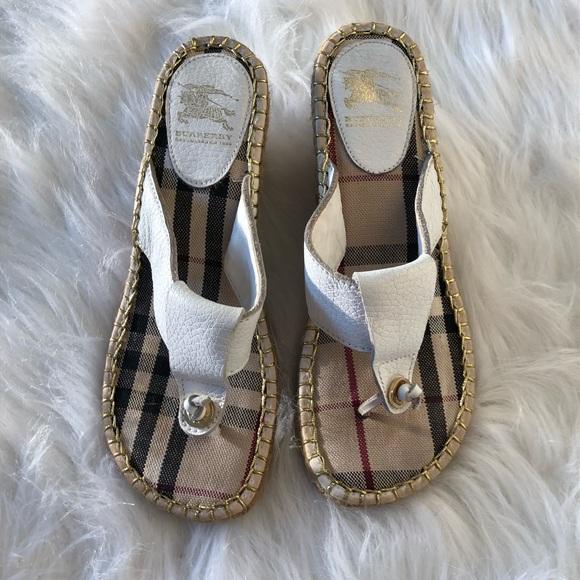6936fd4ff Burberry Shoes | Authentic Nova Check Espadrille Wedges | Poshmark